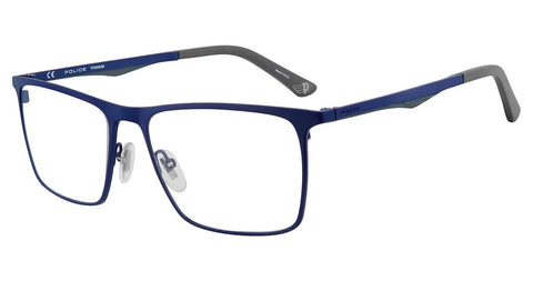 Police - VPL685 55mm Blue Eyeglasses / Demo Lenses