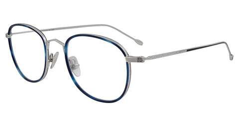 John Varvatos - V178 49mm Blue Silver Eyeglasses / Demo Lenses
