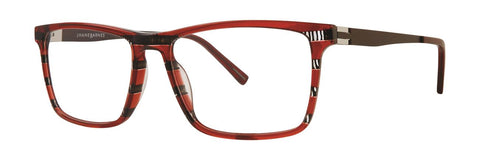 Jhane Barnes - Trichotomy 54mm Red Eyeglasses / Demo Lenses
