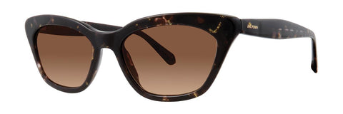 Zac Posen - Dolly 52mm Black Gold Sunglasses / Brown Gradient Lenses