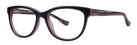 Kensie - Glamour 46mm Purple Eyeglasses / Demo Lenses