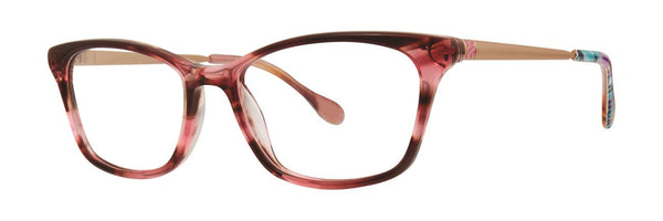Lilly Pulitzer  - Cabrey  50mm Pink Eyeglasses / Demo Lenses
