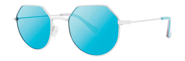 Kensie - Make Believe 49mm Silver Sunglasses / Blue Lenses