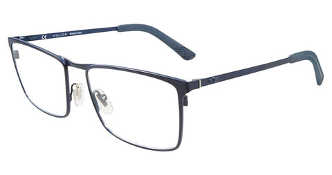 Police - VPL555 55mm Blue Eyeglasses / Demo Lenses