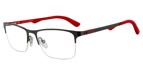 Police - VPL693 55mm Red Grey Eyeglasses / Demo Lenses