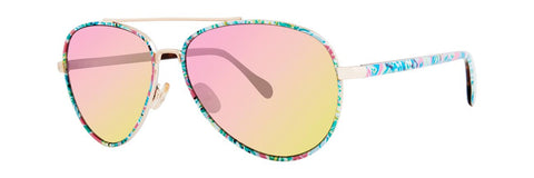 Lilly Pulitzer  - Danica  56mm Pink Sunglasses / Pink Yellow Gradient Lenses