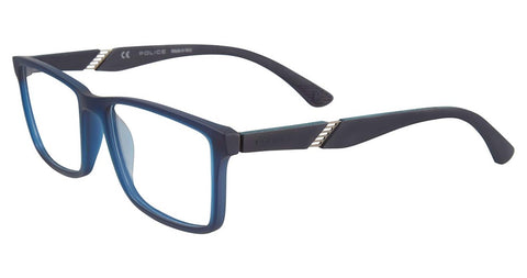 Police - VPL389 55mm Rubber Blue Eyeglasses / Demo Lenses