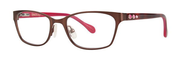 Lilly Pulitzer  - Amalie  47mm Brown Eyeglasses / Demo Lenses