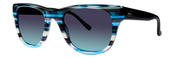 Kensie - For Real 52mm Blue Stripe  Sunglasses / Violet Blue Gradient Lenses