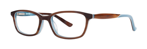 Kensie - Surprise 47mm Feathered Brown Eyeglasses / Demo Lenses