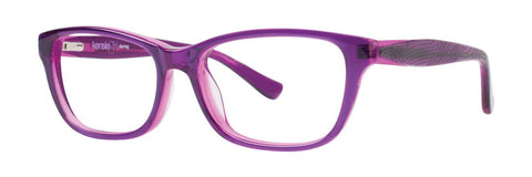 Kensie - Daring 46mm Purple Eyeglasses / Demo Lenses