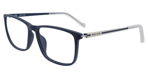 Police - VPL799 56mm Full Blue Eyeglasses / Demo Lenses