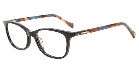 Lucky Brand - D719 50mm Black Eyeglasses / Demo Lenses
