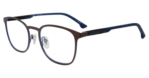Police - VPL801 52mm Matte Gunmetal Blue Eyeglasses / Demo Lenses