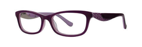 Kensie - Bloom 47mm Purple Eyeglasses / Demo Lenses