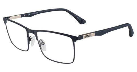 Police - VPL394N 55mm Matte Blue Eyeglasses / Demo Lenses