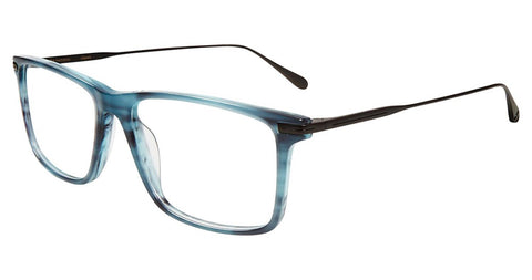 John Varvatos - V403 56mm Blue Horn Eyeglasses / Demo Lenses