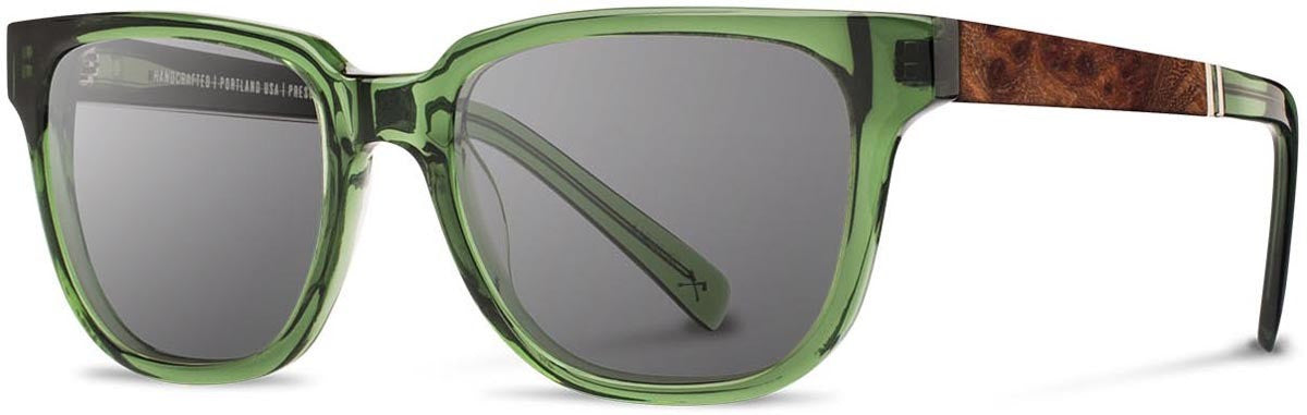 Shwood - Prescott Acetate Emerald / Grey Polarized Sunglasses