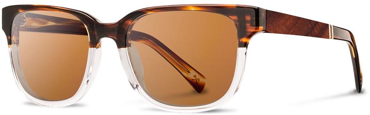 Shwood - Prescott Acetate Whiskey Soda / Brown Polarized Sunglasses