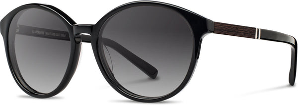 Shwood - Bailey Acetate Black / Grey Fade Polarized Sunglasses
