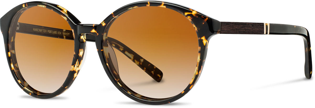 Shwood - Bailey Acetate Dark Speckle / Brown Fade Polarized Sunglasses