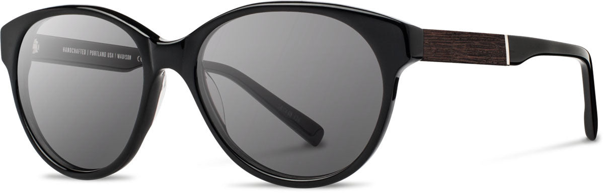 Shwood - Madison Acetate Black / Grey Sunglasses