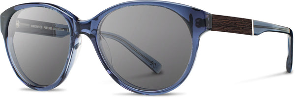 Shwood - Madison Acetate Blue Crystal / Grey Sunglasses