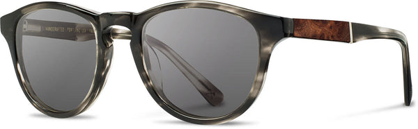 Shwood - Francis Acetate Pearl Grey / Grey Polarized Sunglasses