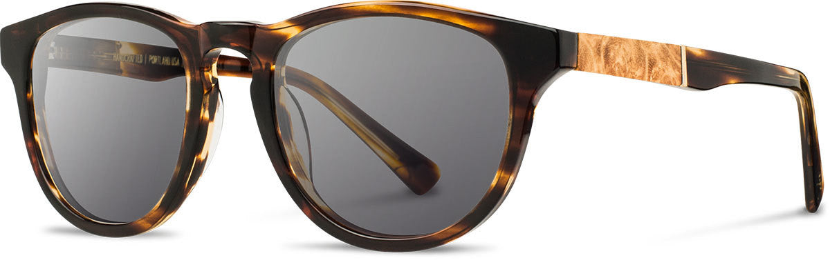 Shwood - Francis Acetate Tortoise / Grey Polarized Sunglasses
