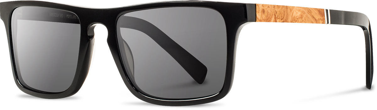 Shwood - Govy 2 Acetate Black / Grey Polarized Sunglasses