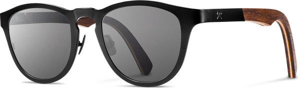 Shwood - Francis Titanium Black / Grey Sunglasses