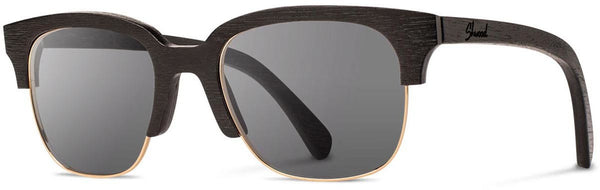 Shwood - Newport 52mm Dark Walnut / Grey Polarized Sunglasses