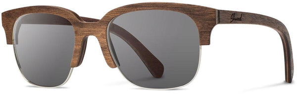 Shwood - Newport 52mm Walnut / Grey Polarized Sunglasses