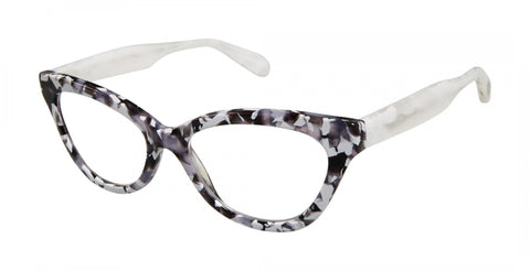 Scojo New York - Sigourney Street Grey White Marble Reader Eyeglasses / +2.50 Lenses