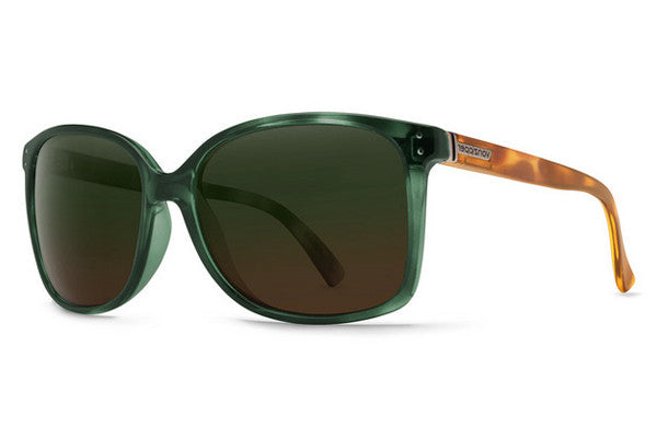 Von Zipper - Castaway Hunter Crystal Tortoise GTO Sunglasses, Green Brown Gradient Lenses
