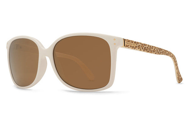 Von Zipper - Castaway Party Animals White Gold PAW Sunglasses, Gold Chrome Lenses