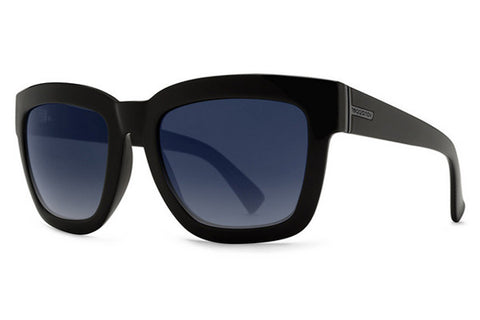 VonZipper - Juice Black Satin SBG Sunglasses, Grey Blue Gradient Lenses