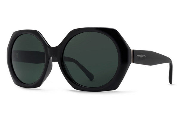Von Zipper - Buelah Black Gloss BKV Sunglasses, Vintage Grey Lenses