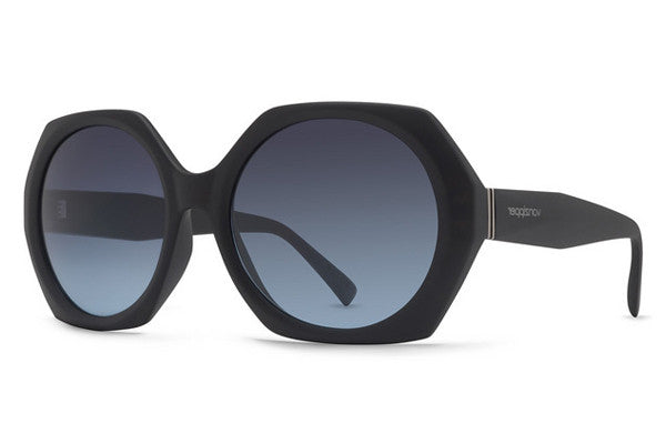 Von Zipper - Buelah Black Satin SBG Sunglasses, Grey Blue Gradient Lenses
