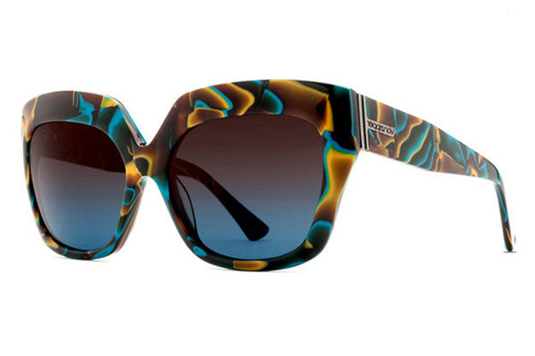 Von Zipper - Poly Color Swirl CLG Sunglasses, Brown Blue Gradient Lenses
