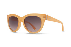 Von Zipper - Queenie Peach Gloss PHG Sunglasses, Grey Gradient Lenses