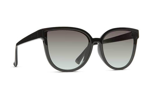 VonZipper - Fairchild Black Gloss Sunglasses / Vintage Grey Gradient Lenses