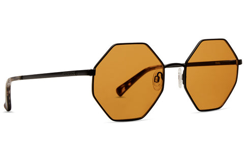 VonZipper - Pearl Black Satin Amber Sunglasses / Orange Lenses