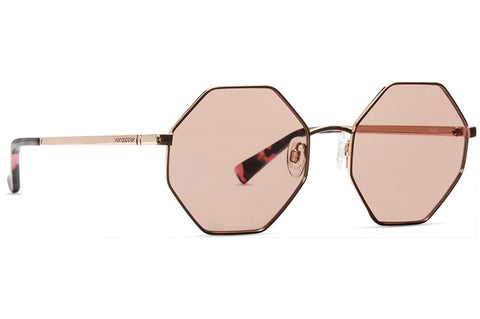 VonZipper - Pearl Rose Gold Sunglasses / Champagne Rose Flash Lenses