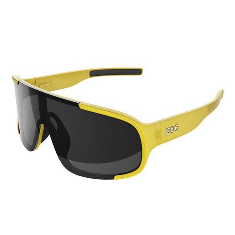 POC - Aspire Sulphite Yellow Translucent Sunglasses / Black Lenses