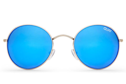 Quay Mod Star Silver / Blue Sunglasses