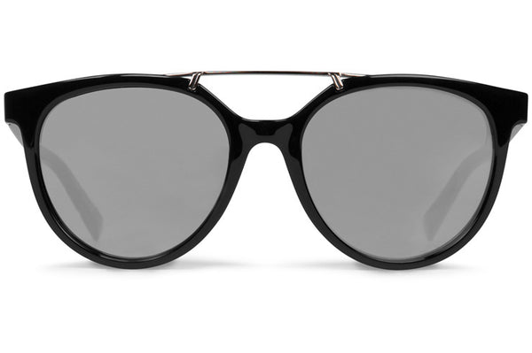 VonZipper - Hitsville Black Gloss Sunglasses / Grey Silver Chrome Lenses
