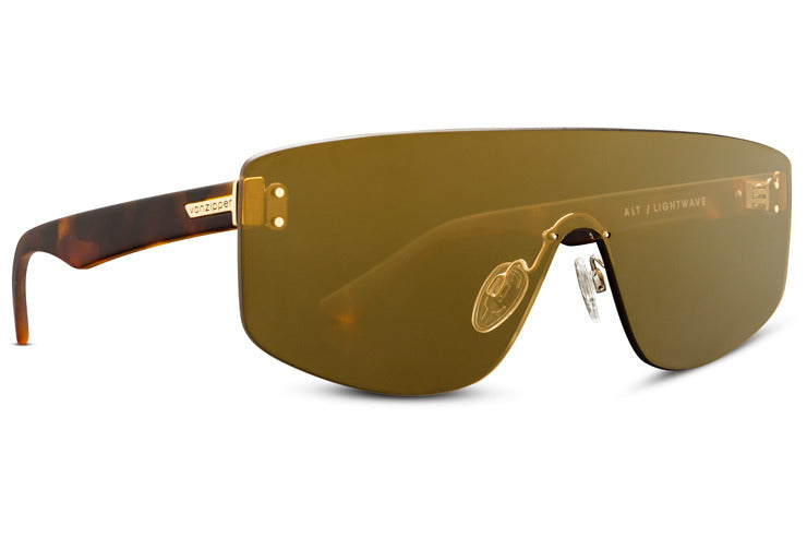 VonZipper - Alt Lightwave Tortoise Satin Sunglasses / Bronze Gold Chrome Lenses