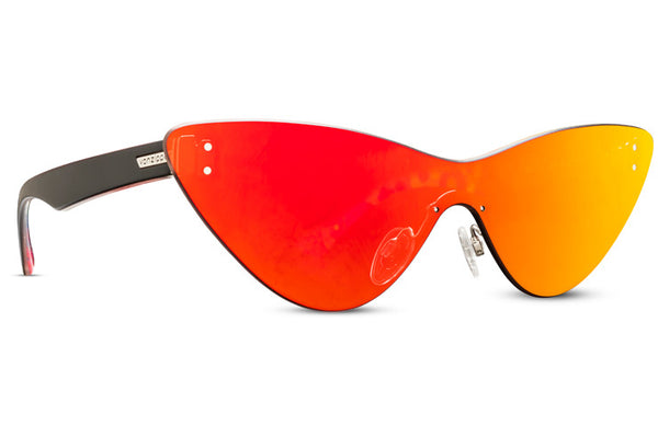 VonZipper - Alt Ubiquity Liquid Light Black Satin Sunglasses / Red Chrome Lenses