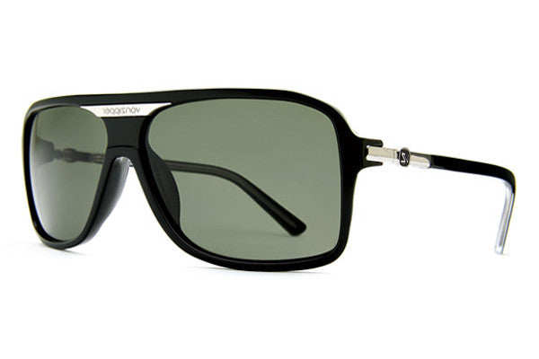 Von Zipper - Stache Black Gloss BKG Sunglasses, Vintage Grey Lenses